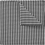 Image of Ben Sherman Check Black Pocket Square