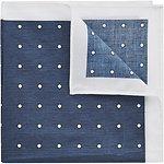 Image of Ben Sherman Blue Polka Dot Pocket Square