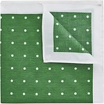 Image of Ben Sherman Green Polka Dot Pocket Square