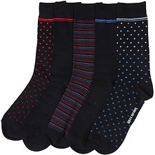 Image of Ben Sherman Australia MULTI FLYINGBOLT 5PK GIFT BOX SOCKS