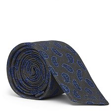 designer silk ties 1afi  Paisley Skinny Tie