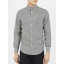 Image of Ben Sherman Australia JET BLACK  GINGHAM SHIRT