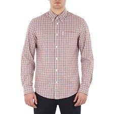 Image of Ben Sherman Australia OFF WHITE HOUSE GINGHAM SHIRT
