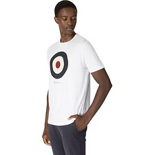 Image of Ben Sherman Australia BRIGHT WHITE TARGET T-SHIRT