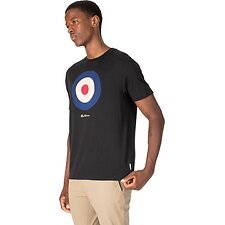 Image of Ben Sherman Australia TRUE BLACK TARGET T-SHIRT