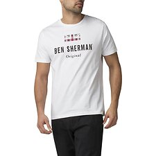 Image of Ben Sherman Australia BRIGHT WHITE THE ORIGINAL T-SHIRT