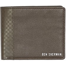 Image of Ben Sherman Australia CHOCOLATE GINGHAM EMBOSS BILLFOLD WALLET