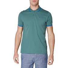 Image of Ben Sherman Australia VINTAGE GREEN SCRIPT POLO WITH TIPPING