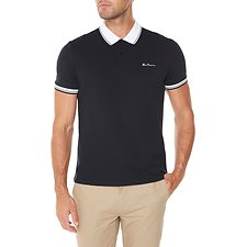 Picture of Script Polo With Contrast Collar
