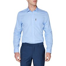 Image of Ben Sherman Australia LIGHT BLUE DOBBY SOHO SHIRT