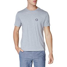 Image of Ben Sherman Australia OXFORD MARL CREW TEE WITH CHEST LOGO