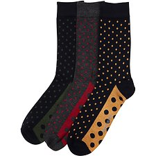Image of Ben Sherman Australia NAVY DOMINICKS BAR 3 PACK SOCKS