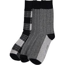 Image of Ben Sherman Australia BLACK ROYAL APPROACH 3 PACK SOCKS