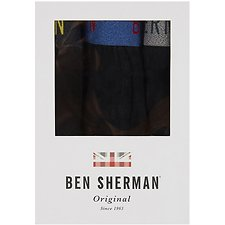Image of Ben Sherman Australia BLACK YORICK 3 PACK TRUNKS