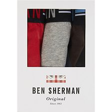 Image of Ben Sherman Australia GREY WOLCOTT 3 PACK TRUNK