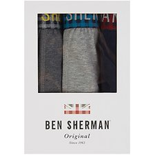 Image of Ben Sherman Australia GREY MARL WADE 3 PACK TRUNK