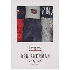 Image of Ben Sherman Australia GREY MARL WINTHORP 3 PACK TRUNK