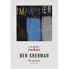 Image of Ben Sherman Australia GREY MARL WINSLOW 3 PACK TRUNKS
