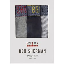 Image of Ben Sherman Australia GREY MARL WILL 3 PACK TRUNKS